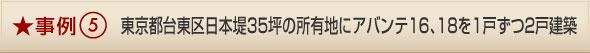 事例5/東京都台東区日本堤35坪の所有地にアバンテ16、18を1戸ずつ2戸建築